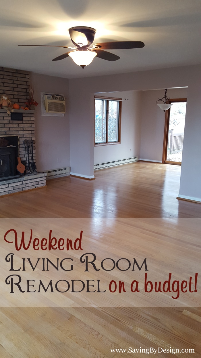 Our Weekend Living Room Remodel On A Budget Saving By Design