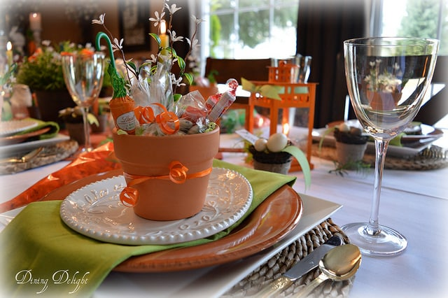 carrots and bunnies table decor