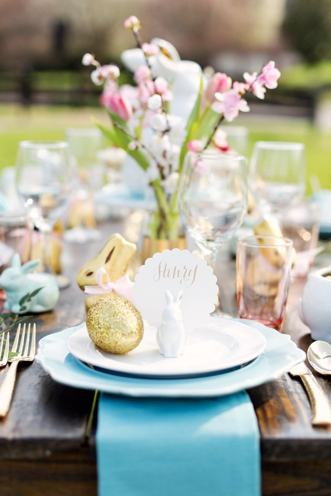 rustic chic easter tablescape