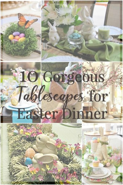 Get ready because Easter is going to be here before you know it. Here is all the inspiration of Easter table decorations you'll need to put together a gorgeous table for your family!