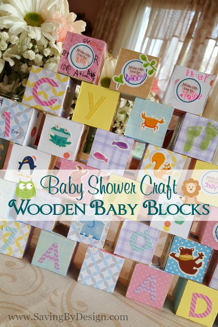craft ideas for a baby shower wooden building blocks baby shower craft a 7546
