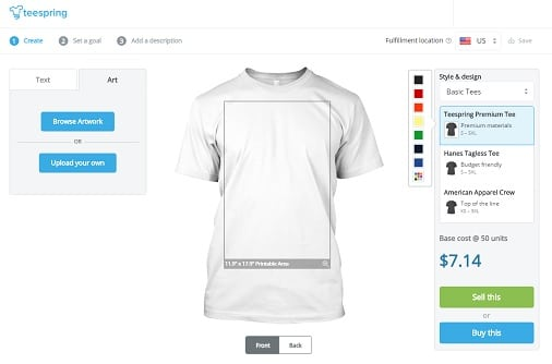 make money with TeeSpring