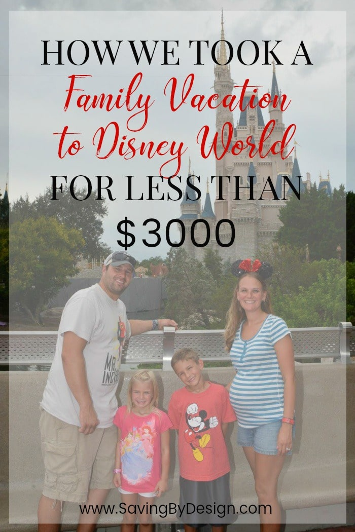 Having just taken ourfirst family trip to Disney, I'm now happy to say it's really is possible to take a family vacation to Disney World for under $3000!