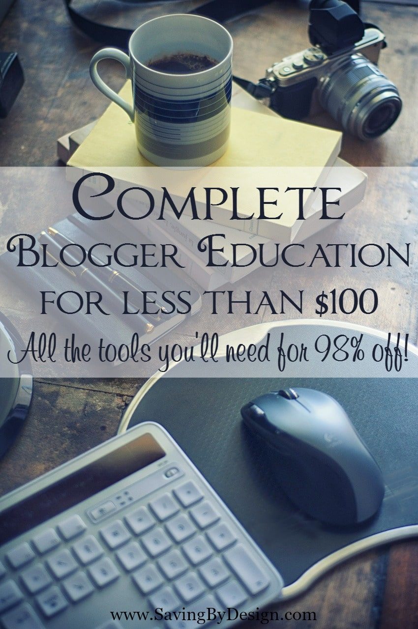 If you are ready to take your blog to the next level and really do this thing once and for all, this complete blogger education crammed full of brilliant tools will help you grow your blog, work smarter, and make more money...all for less than $100!