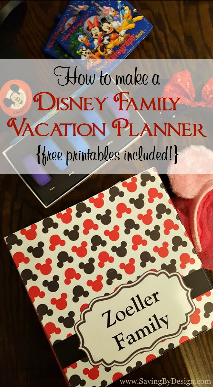 how to make a disney family vacation planner free printables