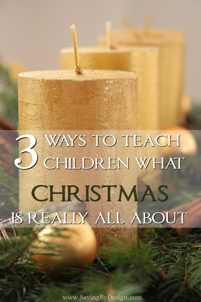 Sometimes the true meaning of Christmas can be left in the dust with the hustle and bustle of the holidays.  That's why this year, I'm looking for ways to teach children what Christmas is really about.