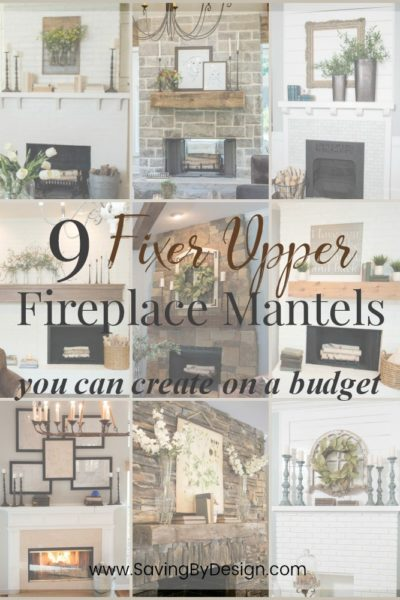 Here are 9 Fixer Upper fireplace mantel decor ideas you can create on a budget...which will you choose? Fireplace mantel decor is always such a great way to spruce up your home quickly!