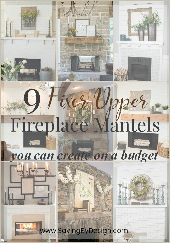 Fireplace Mantel Decor Ideas - Fixer Upper Mantel Decorating ...