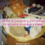 Get your laundry off the floor and back in the drawer by creating a laundry schedule. Get your free printable schedule and homemade detergent recipe too!