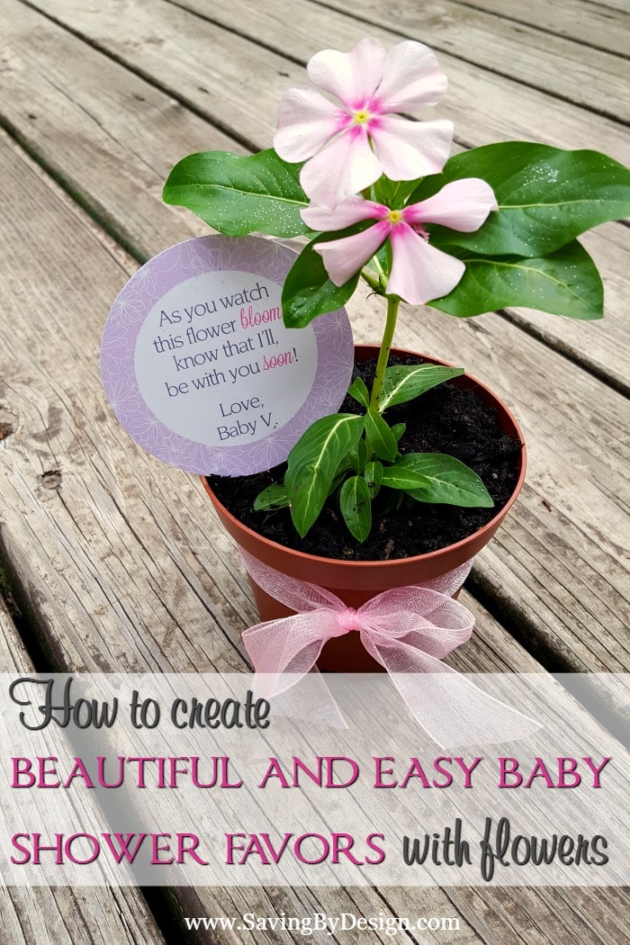 How To Create Beautiful And Easy Flower Baby Shower Favors Saving