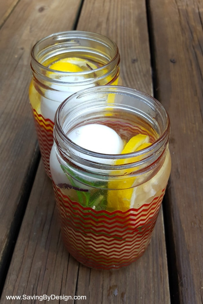 homemade bug repellent luminaries