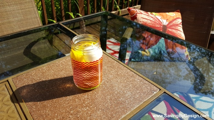Making these natural bug repellent luminaries is easy and only takes a few ingredients. They'll look beautiful on your patio and smell great!