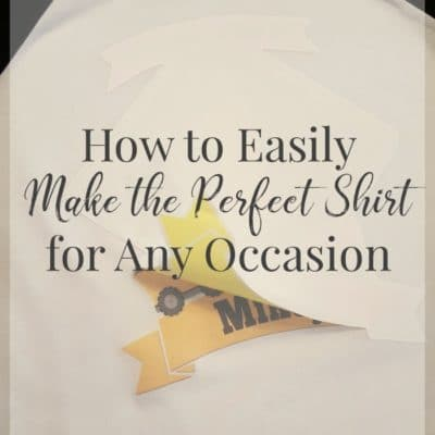 Do you know how easy it is to create your own shirt for any occasion?  With these 5 things you can easily create a shirt for parties, milestones, or vacations!