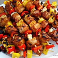 Pineapple Teriyaki Pork Kabobs