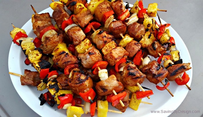 grilled pineapple pork kabobs
