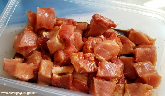 marinading pork for kabobs