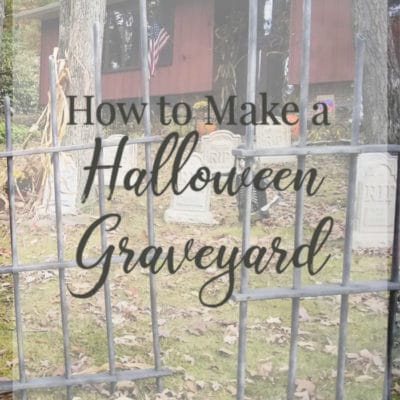 How to Make a Spooky Halloween Graveyard and Fence
