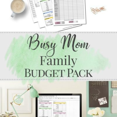 Bills, Budget, or Debt Out of Control? The Busy Mom Family Budget Pack is for YOU!