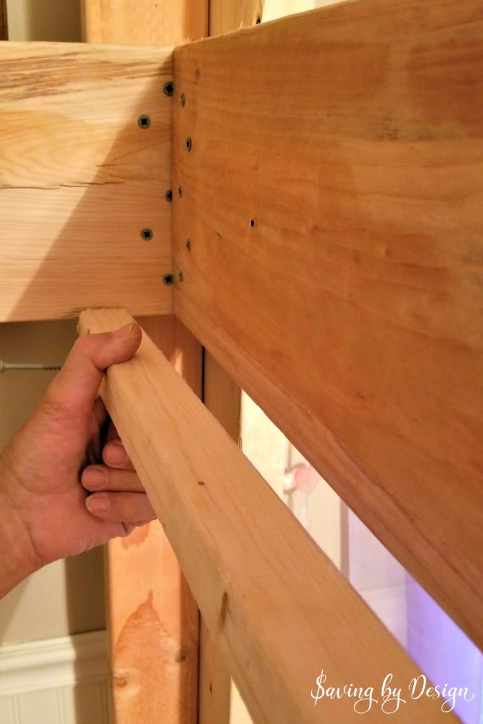attaching furring strip to loft bed frame