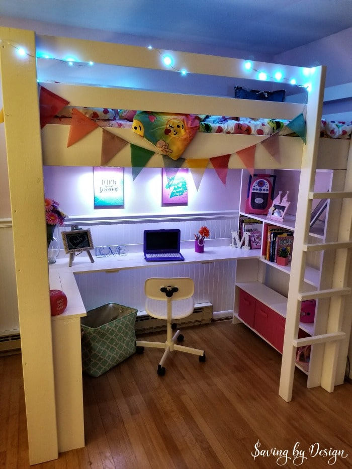 Tween Loft Bed With Desk