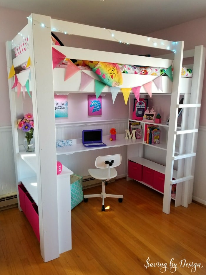 Beau DIY Loft Bed With Desk