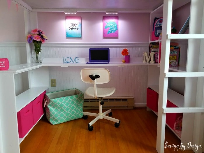 twin loft beds with desk