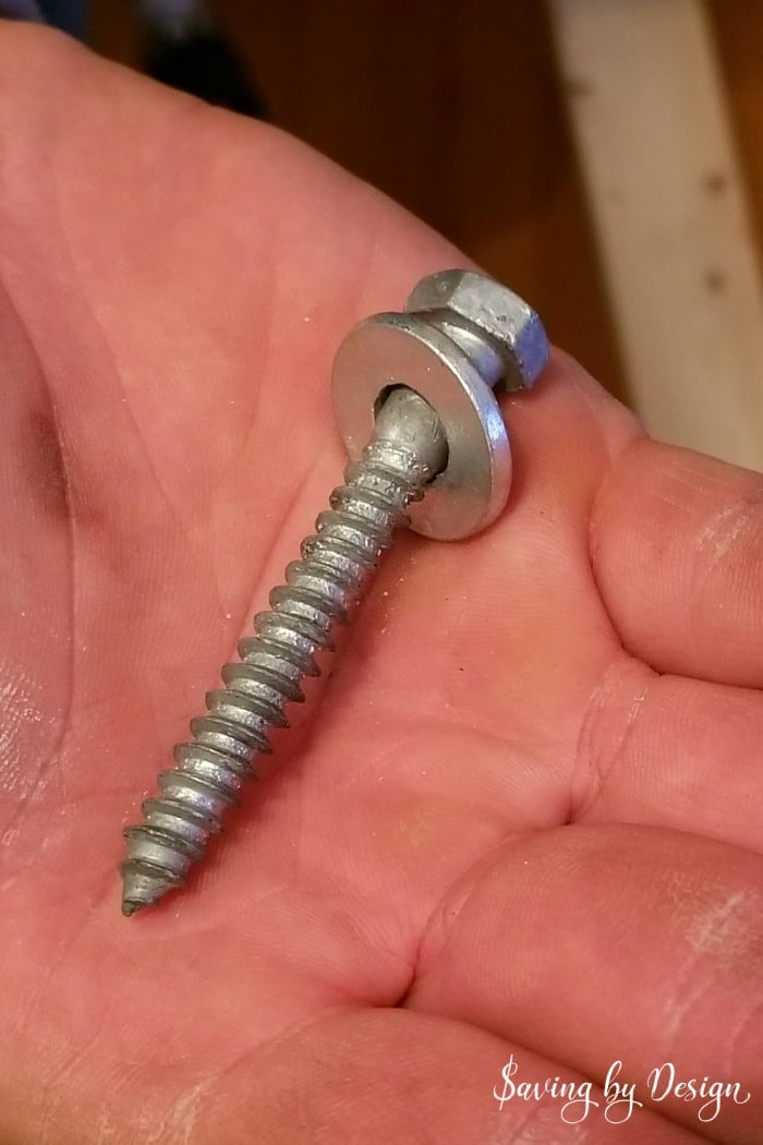 lag bolt and washer