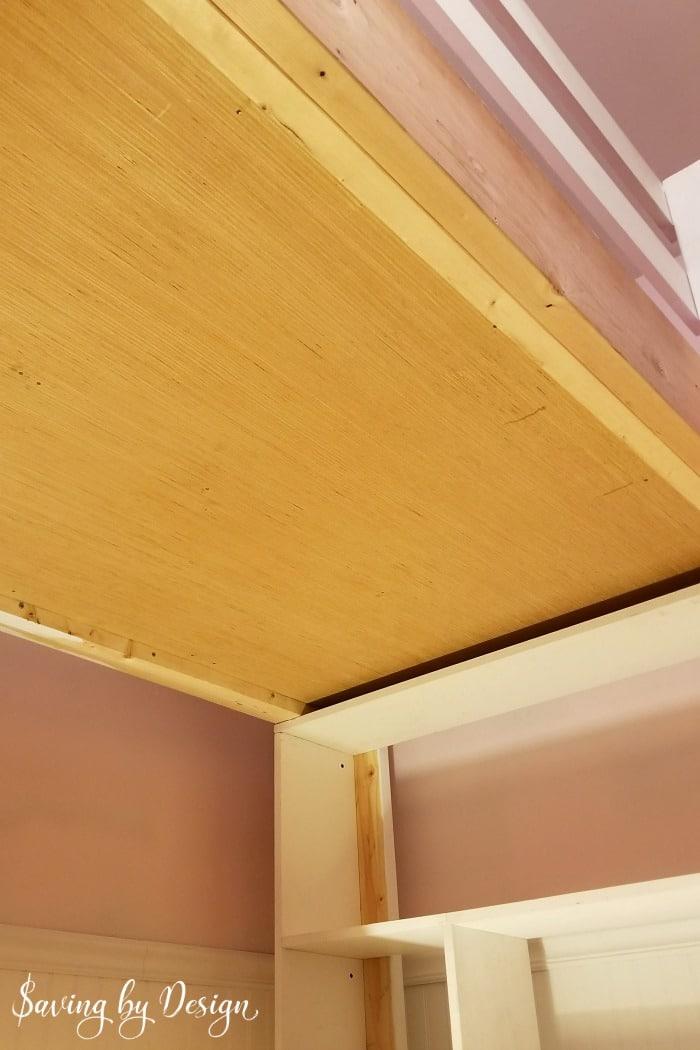 plywood under loft bed
