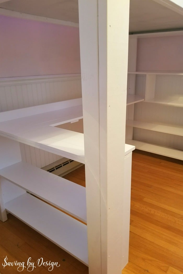 How To Build A Loft Bed With Desk And Storage Diy Loft Bed With Desk