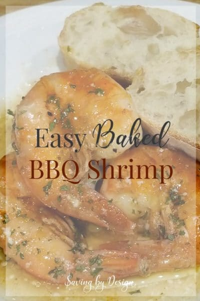 This easy and delicious baked BBQ shrimp recipe is perfect for lent or any occasion! It's one of our favorite easy shrimp recipes.