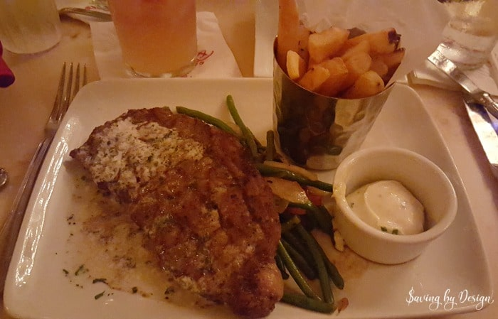 Steak at Be Our Guest