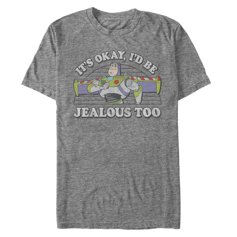 "Disney shirts for men - Buzz Lightyear ""It's okay, I'd be jealous too"""