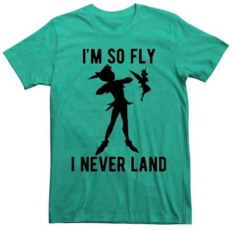 "Disney shirts for men - Peter Pan ""I'm so fly I never land"""