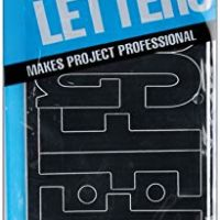 Permanent Adhesive Vinyl Letters, 4-Inch, Black