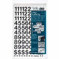 Self-Adhesive Vinyl Numbers, 3/4 Inch High, Black