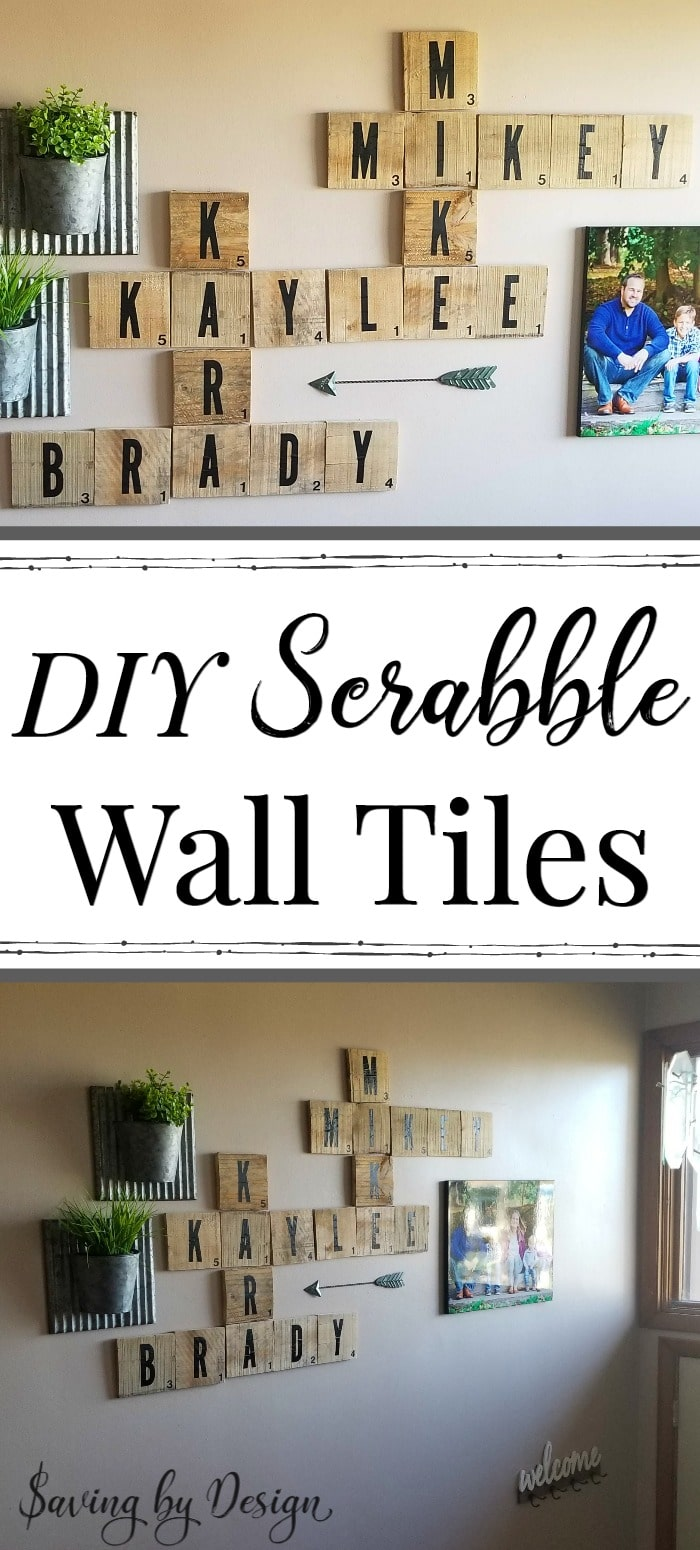 DIY Scrabble Wall Tiles - Rustic Wood Wall Decor for Your Home