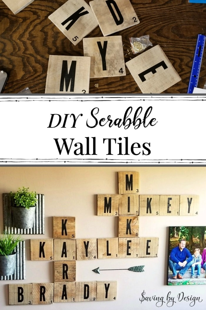 How to Make Scrabble Wall Tiles