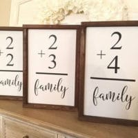gallery wall ideas - family flashcard sign