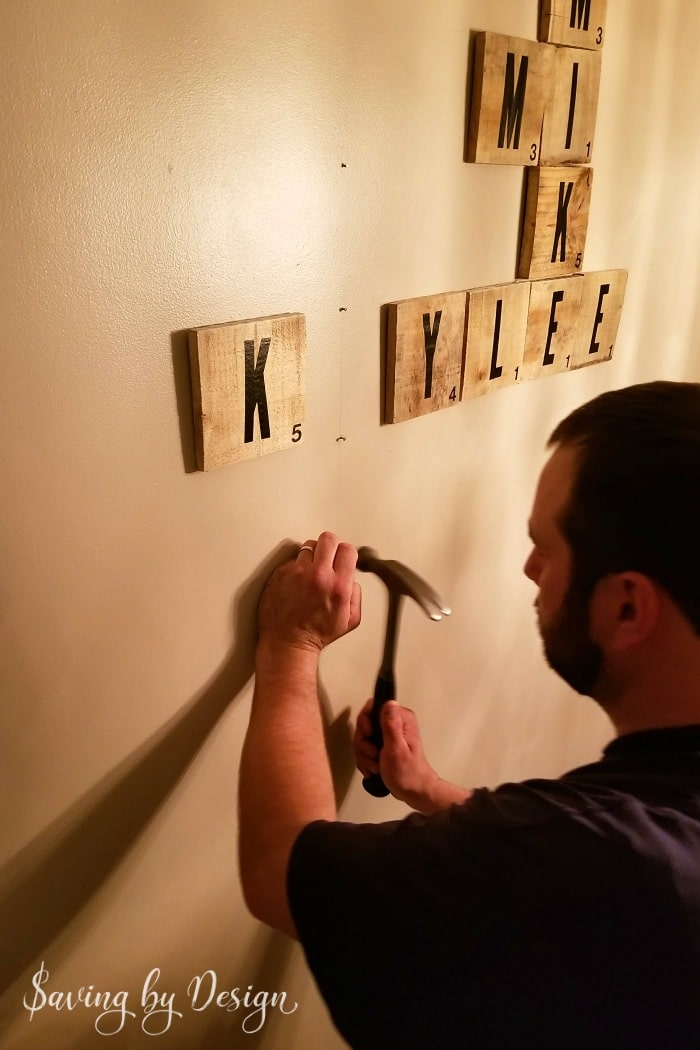 scrabble wall tiles for a gallery wall