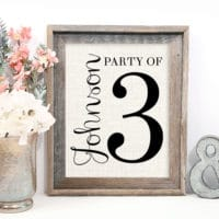 gallery wall ideas - family sign