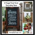 8 Frugal Front Porch Decorating Ideas